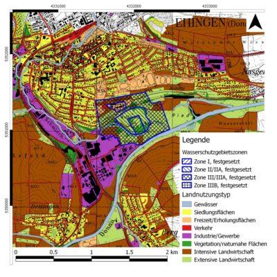 Water protection area -Ehingen 2 - Boden & Grundwasser - soil & groundwater